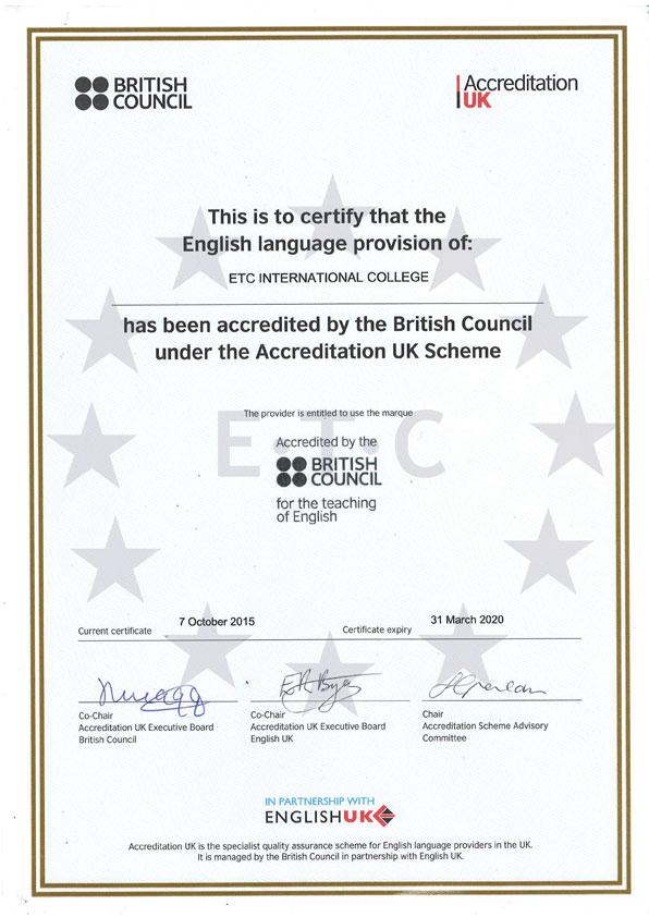 English Language School Bournemouth Etc International